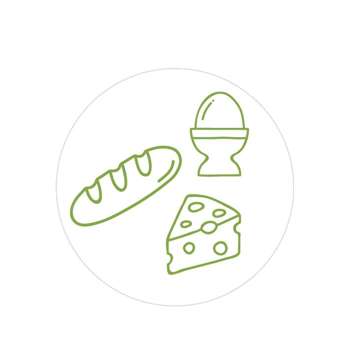 Milchprodukte / Eier / Brot